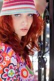 κόκκινη γυναίκα τριχώματο&s Στοκ φωτογραφία με δικαίωμα ελεύθερης χρήσης