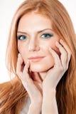 κόκκινη γυναίκα τριχώματο&s Στοκ εικόνες με δικαίωμα ελεύθερης χρήσης
