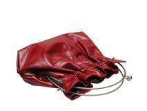 κόκκινη γυναίκα τσαντών Στοκ Εικόνες
