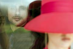 κόκκινη γυναίκα Στοκ φωτογραφίες με δικαίωμα ελεύθερης χρήσης