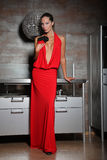κόκκινη γυναίκα Στοκ φωτογραφία με δικαίωμα ελεύθερης χρήσης
