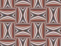 Κόκκινη διακόσμηση διακοσμήσεων γεωμετρικό πρότυπο Στοκ Εικόνες
