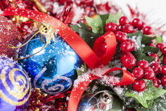 Κόκκινη διακόσμηση μούρων Χριστουγέννων Στοκ Εικόνες