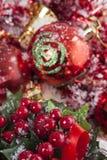 Κόκκινη διακόσμηση Χριστουγέννων Στοκ εικόνες με δικαίωμα ελεύθερης χρήσης