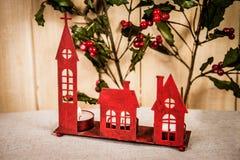 Κόκκινη διακόσμηση Χριστουγέννων Στοκ Φωτογραφίες
