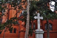 Κόκκινη εκκλησία σε Postorna Στοκ Εικόνες