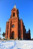 Κόκκινη εκκλησία στοκ εικόνα
