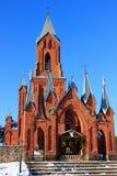 Κόκκινη εκκλησία στοκ φωτογραφίες
