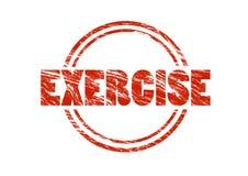 Κόκκινη εκλεκτής ποιότητας σφραγίδα άσκησης που απομονώνεται στο άσπρο υπόβαθρο Στοκ φωτογραφία με δικαίωμα ελεύθερης χρήσης