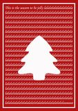 Κόκκινη εκλεκτής ποιότητας κάρτα Χριστουγέννων Στοκ Φωτογραφίες
