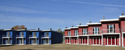 Κόκκινη εξασθένιση στο μπλε Στοκ Εικόνες