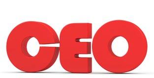 Κόκκινη επιγραφή CEO Στοκ Εικόνες
