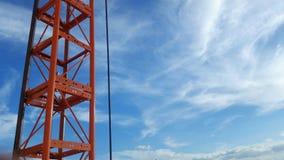 Κόκκινη επικοινωνία τηλεφωνικών πόλων Στοκ φωτογραφία με δικαίωμα ελεύθερης χρήσης