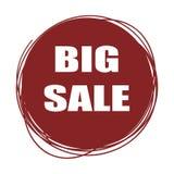 Κόκκινη ετικέττα πώλησης Doodle Στοκ Εικόνες