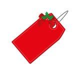 Κόκκινη ετικέττα Χριστουγέννων Στοκ φωτογραφία με δικαίωμα ελεύθερης χρήσης