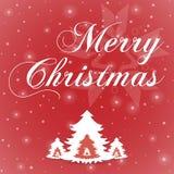 Κόκκινη ευχετήρια κάρτα Χαρούμενα Χριστούγεννας Στοκ φωτογραφία με δικαίωμα ελεύθερης χρήσης