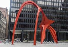 Κόκκινη ζωή πόλεων του Σικάγου φλαμίγκο την Πέμπτη, 3$ος του Αυγούστου του 2017 - Σικάγο, Ιλλινόις Στοκ φωτογραφία με δικαίωμα ελεύθερης χρήσης