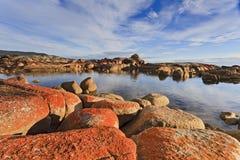 Κόκκινη ημέρα βράχων κόλπων Binalong Στοκ Εικόνα