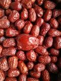 Κόκκινη ημερομηνία - Jujube μεγάλος μικρός φρούτων Στοκ Φωτογραφία