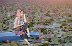 Κόκκινη θάλασσα Lotus Στοκ Φωτογραφίες