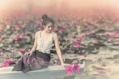 Κόκκινη θάλασσα Lotus Στοκ Εικόνες