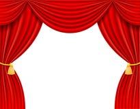 Κόκκινη θεατρική διανυσματική απεικόνιση κουρτινών Στοκ φωτογραφία με δικαίωμα ελεύθερης χρήσης
