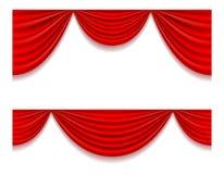 Κόκκινη θεατρική διανυσματική απεικόνιση κουρτινών Στοκ εικόνες με δικαίωμα ελεύθερης χρήσης
