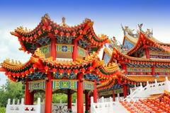 Κόκκινη διακόσμηση φαναριών στο ναό Thean Hou, Κουάλα Λουμπούρ, της Μαλαισίας Στοκ φωτογραφία με δικαίωμα ελεύθερης χρήσης
