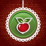 Κόκκινη διανυσματική απεικόνιση της Apple Στοκ Εικόνες