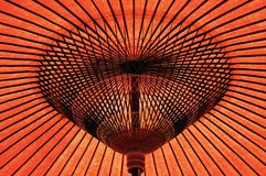 Κόκκινη ιαπωνική ομπρέλα treditional Στοκ Φωτογραφίες