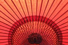 Κόκκινη ιαπωνική ομπρέλα Στοκ Εικόνα