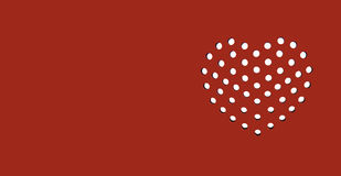 Κόκκινη κάρτα καρδιών αίματος Στοκ εικόνες με δικαίωμα ελεύθερης χρήσης