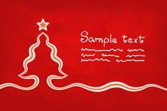 Κόκκινη κάρτα Χριστουγέννων Στοκ Φωτογραφία