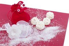 Κόκκινη κάρτα Χριστουγέννων Στοκ εικόνες με δικαίωμα ελεύθερης χρήσης
