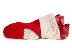 κόκκινη κάλτσα Χριστουγέ&n στοκ φωτογραφία με δικαίωμα ελεύθερης χρήσης