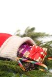 κόκκινη κάλτσα Χριστουγέ&n Στοκ Εικόνες