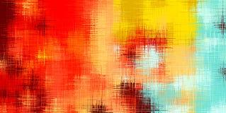 Κόκκινη κίτρινη καφετιά και μπλε περίληψη ζωγραφικής Στοκ φωτογραφία με δικαίωμα ελεύθερης χρήσης