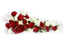 κόκκινη και άσπρη ανθοδέσμη λουλουδιών Στοκ Εικόνες