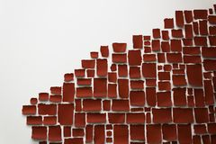 κόκκινη και άσπρη εγκατάσταση τέχνης απεικόνιση αποθεμάτων