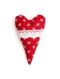 Κόκκινη και άσπρη καρδιά βαλεντίνων με το διακοσμητικό σχέδιο Στοκ φωτογραφία με δικαίωμα ελεύθερης χρήσης