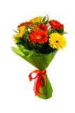 Κόκκινη και κίτρινη ανθοδέσμη λουλουδιών Στοκ Εικόνες