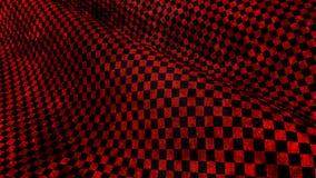 κόκκινη και μαύρη διαιρεσμένη σε τετράγωνα grundge σημαία φυλών Στοκ Εικόνες
