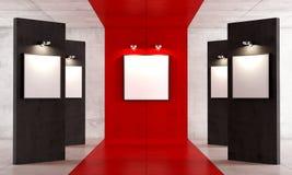 Κόκκινη και μαύρη στοά σύγχρονης τέχνης διανυσματική απεικόνιση