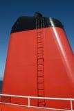 Κόκκινη και μαύρη χοάνη πορθμείων Στοκ Φωτογραφία