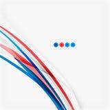 Κόκκινη και μπλε έννοια στροβίλου χρώματος Στοκ Φωτογραφία
