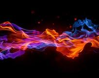 Κόκκινη και μπλε ένωση φλογών στοκ εικόνα με δικαίωμα ελεύθερης χρήσης
