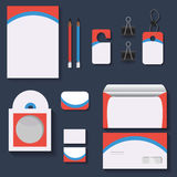 Κόκκινη και μπλε χλεύη upstemplates για την επιχείρηση για τα προγράμματα σχεδίου σας διανυσματική απεικόνιση