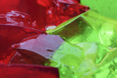 Κόκκινη και πράσινη αφαίρεση ζελατίνας Στοκ Φωτογραφία