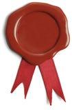Κόκκινη και χρυσή κορδέλλα βραβείων Στοκ φωτογραφία με δικαίωμα ελεύθερης χρήσης
