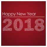 Κόκκινη καλή χρονιά 2018 από μικρά snowflakes eps10 Στοκ Εικόνα